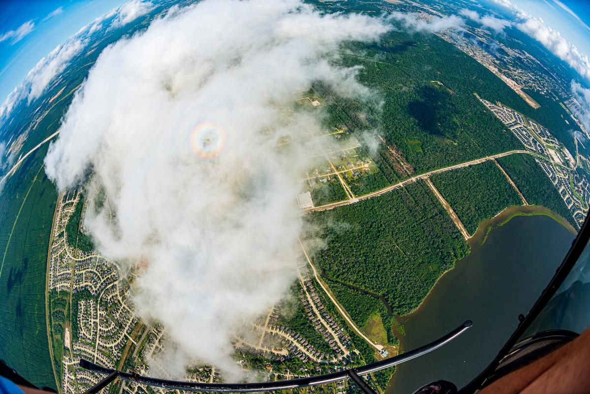 Aerial photo north of Houston Texas