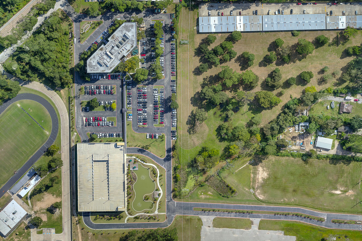 Orthophoto of mapping project photographed with a drone