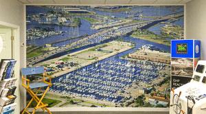 Example of aerial photograph of Kemah marina as wall-sized print.