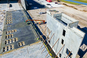 Example of construction aerial photo for informational purposes