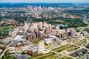 High oblique aerial photography example of Houston, Texas