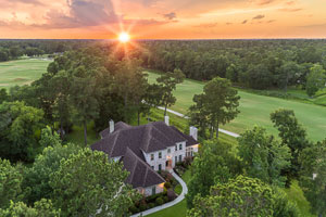 High oblique aerial photography example of home near Houston, Texas.